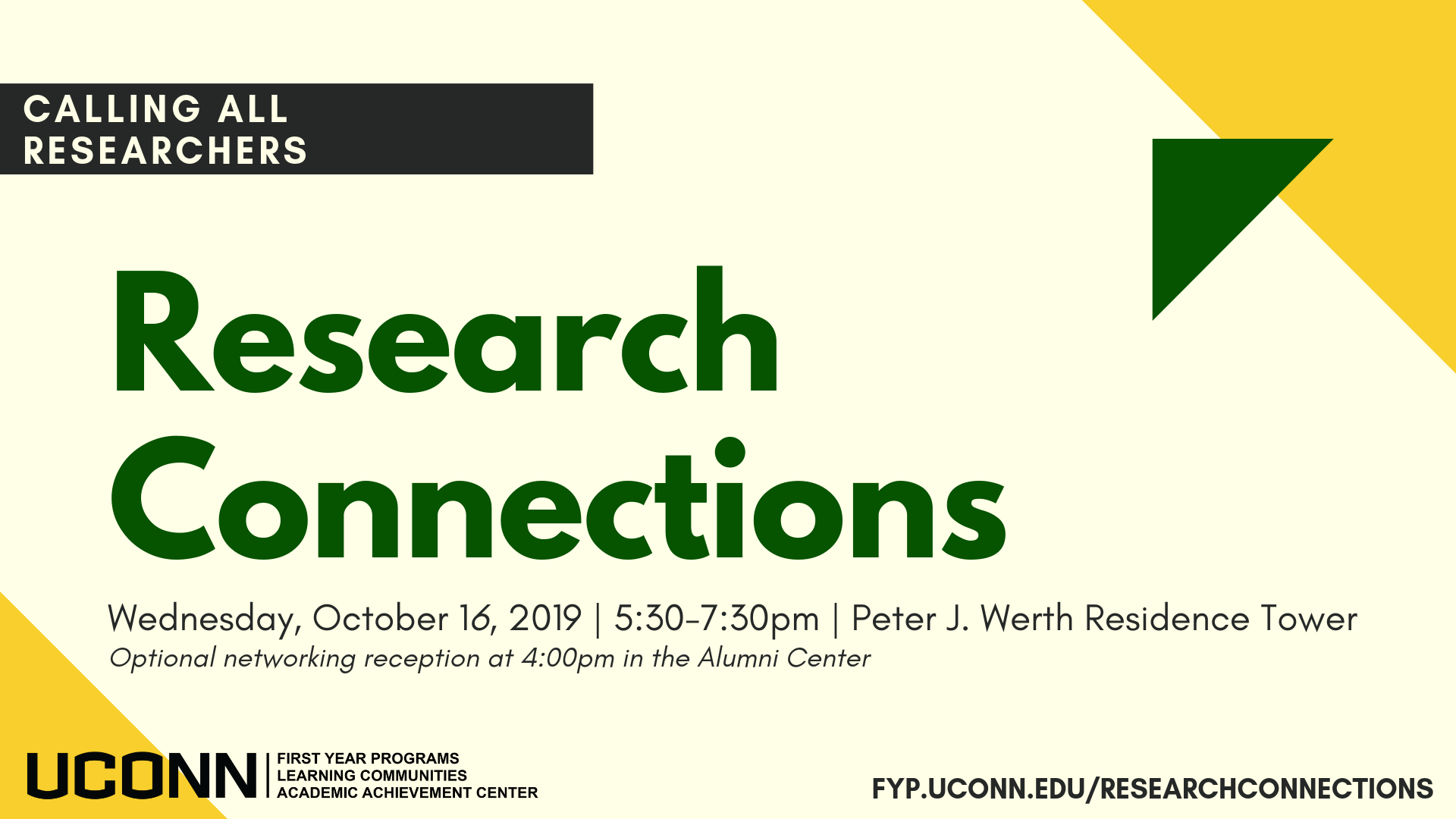 Research Connections 2019 Call for Researchers