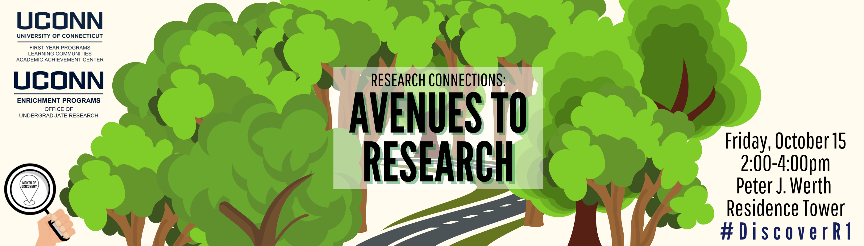 Research Connections October 15 2-4pm Peter J. Werth Residence Tower